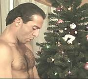 Hairy gorgeous gays butt fucking by the tree