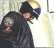Horny hunk gives bear cop a hot blowjob