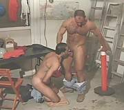 Hairy gay men brutal ass fucking in the garage