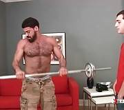 Ricky Larkin Shows Kevin Grover Some Exercises 1