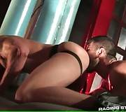 Muscled Men Drive Each Other Crazy 2
