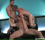Three Big Bulls Get Too Much Turned On 1