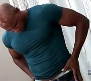 Muscled Black Dude Is Caressing Himself 1